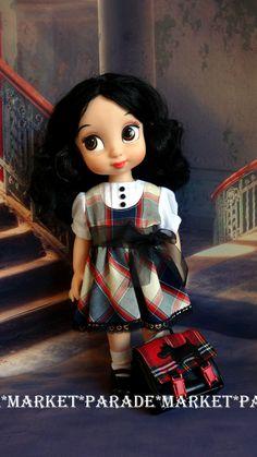 "Disney Animator doll 16"" Tartan & Ribbon Dress by MarketParade on Etsy"