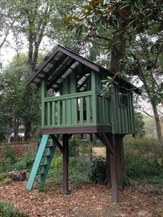 Kids tree house we built from salvaged wood.