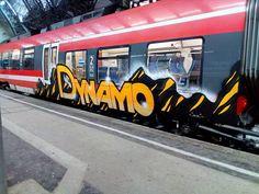DYNAMO Via @farbkoyote_leipzsch _______________________ #madstylers #graffiti #graff #style #colorful #stylewriting #sprayart #graffitiart Graffiti Artwork, Graffiti Drawing, Dynamo, Graffiti Tagging, S Bahn, Trains, Art Ideas, Street Art, Mad