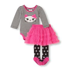 The 'purrfect' outfit for a complete, matching look she'll love! #bigbabybasketsweeps