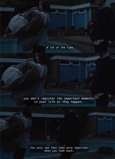 The end of the f***ing world Alyssa and James It's weird. A lot of the time, you don't register the important moments In your life as they happen. Tv Show Quotes, Film Quotes, Book Quotes, Movies Showing, Movies And Tv Shows, Ing Words, All The Bright Places, Einstein, World Quotes