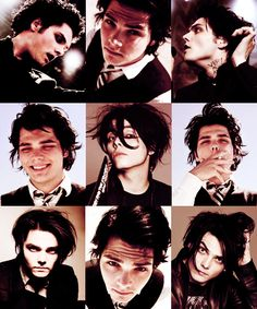 The many faces of Gerard Way, and each one is beautiful <3