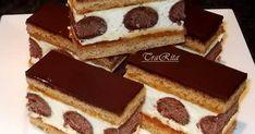 Ajánld ismerőseidnek!                                                                                                                 ... Hungarian Desserts, Hungarian Recipes, No Bake Desserts, Dessert Recipes, Sweets Cake, Food Cakes, Creative Cakes, Cakes And More, Diy Food