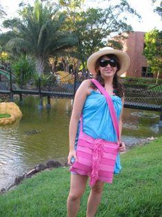 Fajas Rosado  Beautiful Bag for Beach, handmade in Loom, with Cottom .   Euros$21.25  US$28