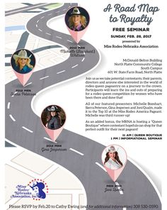 Road Map to Royalty hosted by the Miss Rodeo Nebraska organization February 26 at North Platte's Mid Plains Community College.