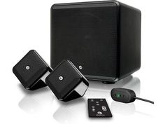 Improve the sound on your sweetie's TV. Check out this sweet little Bluetooth®-capable home theater speaker system from Boston Acoustics.