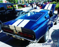 """For 1967 the GT 350 carried over the K-Code high performance 289 with a 'COBRA' aluminumhi-rise. The GT 500 was added to the lineup equipped with a """"Ford Cobra"""" V8 (FE Series 428 cu.in.) engine with two four-barrel carburetors sitting atop a mid-rise Aluminum intake manifold.  #67shelbyt350 #67gt350 #67fordmustanggt350 #shelbygt350 ##Shelby #fordmustang #ford #mustang #stangnation #carphotographybyjjgarcia"""