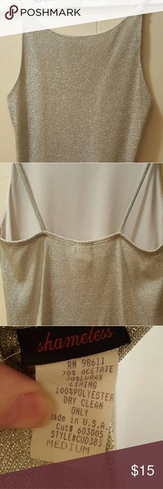 Sparkly tank size Medium, Silver Brand-Shameless. Medium beautiful Silver sparkling dress tank.  Dry cleaned. Worn only once. shameless  Tops Tank Tops