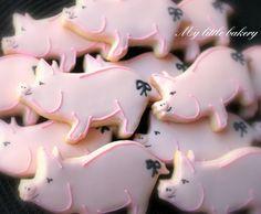 59 Ideas For Cupcakes Versieren Varken Cookies Cupcake, Farm Cookies, Galletas Cookies, Iced Cookies, Cut Out Cookies, Cute Cookies, Royal Icing Cookies, Sugar Cookies, Cookies Et Biscuits