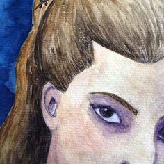 Continuando esse estudo Continuing this study watercolor aquarela painting drawing illustration artsy art instaart eye desenho
