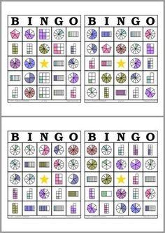 Math Bingo, Math Games, Fraction Games, Math School, Primary Maths, Third Grade Math, Math Fractions, Math For Kids, Elementary Math