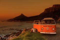 #beach #coast #sunset #van #journey #escape