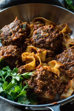 Bison Meatballs with Tagliatelle recipe is a healthier take on the classic meatball recipe…and it starts with the meat. Unlike the classic, traditionally made with a veal, pork and beef chuck mix, my recipe is made with grass-fed free-roamimg bison meat, which is considered to be healthier and leaner than even traditional grass-fed beef.