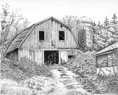 old barns drawings - Google Search
