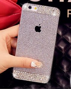 iPhone 6 Plus Case ,LA GO GO(TM) Beauty Luxury Diamond Hybrid Glitter Bling hard Shiny Sparkling with Crystal Rhinestone Cover Case for Apple iPhone 6 Plus (5.5) - Retail Packaging (Silver, iPhone 6 Plus) LA GO GO http://www.amazon.com/dp/B00V49NIA0/ref=cm_sw_r_pi_dp_DEMWvb03CK50E