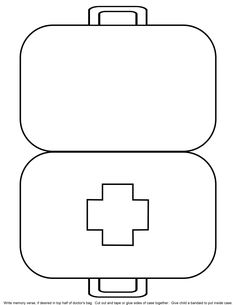 5 Best Images of Doctor Kit Printables For Preschool - Preschool Doctor Worksheets Printable, Doctor Bag Craft Template and Preschool Doctor Theme Preschool Bible, Preschool Activities, Jesus Heals Craft, Community Helpers Preschool, Community Workers, Bible Story Crafts, Bible Stories, Church Crafts, Sunday School Crafts