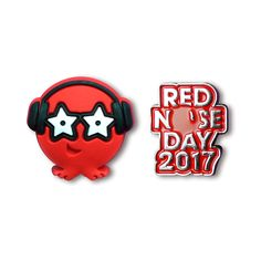 The ultimate Red Nose Day mini motif comes in two cool designs: a shiny metal Red Nose Day 2017 logo and soft, rubber Red Nose character, DJ Boogie.