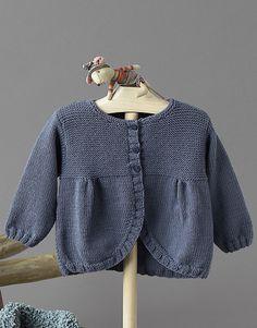 Book Baby 70 Autumn / Winter | 38: Baby Jacket | Dark grey. Wool Kartia Marino BabyNeedles US 4-5