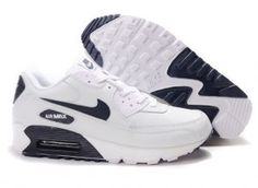 on sale 56538 67df6 Ken Griffey Shoes Nike Air Max 90 White Navy Blue  Nike Air Max 90 -  Signature Nike Air Max 90 White Navy Blue shoes are characterized with  simple colors.