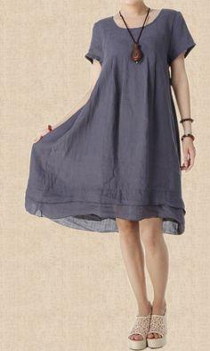 Women Summer Linen asymmetrical Maxi Dress by MaLieb on Etsy by Lieb Ma
