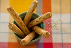 ❥ 96 Calories Snack~ Six Whole-Grain Pretzel Sticks~   For those who don't like nuts, pretzels are just as convenient when you're on the move. To stay under 100 calories, stick to six whole-grain pretzel sticks. This snack is cholesterol-free, low in fat and sugar, and provides more than 3 g of fiber to help tide you over.  Saturated Fat: 0.4g  Sodium: 257mg  Cholesterol: 0 m