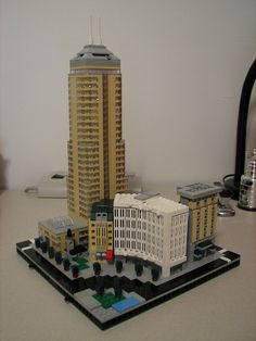 Dude made LEGO Indy!  Monument Circle, Northeast Quad by gmnine, via Flickr