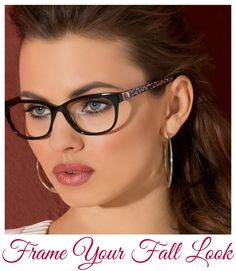 Lush Fab Glam Inspired Lifestyle For The Modern Woman: Frame Your Fall Look With bebe + VSPDirect. Glasses For Oval Faces, Cool Glasses, New Glasses, Girls With Glasses, Womens Glasses Frames, Eyewear Trends, Fashion Eye Glasses, Designer Eyeglasses, Wearing Glasses
