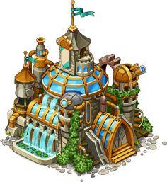 Tawnhall's levels for the steampunk game by Anna_Nikita Ivanova_Oscolcov, via Behance