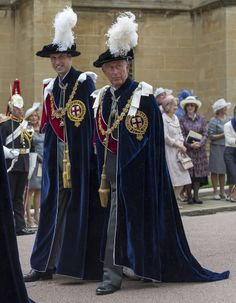 Prince William and Prince Charles at the Order of the Garter ceremony in June 2014.