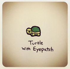Turtle with eyepatch