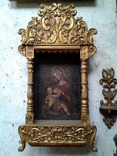 Antique Spanish Colonial Retablo Fine Art  The by ColonialArtShop, $1300.00