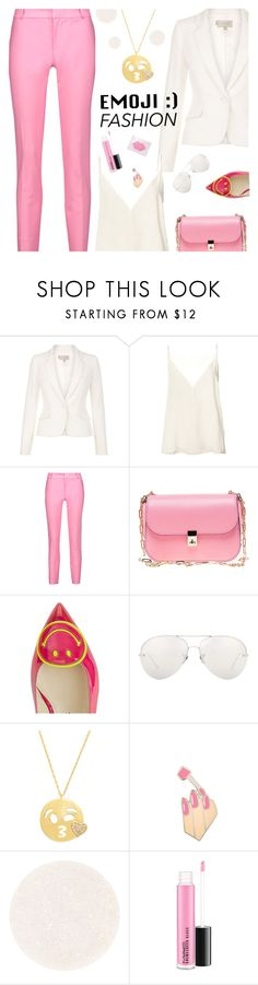 """Wink, Wink: Emoji Fashion"" by shoelover220 ❤ liked on Polyvore featuring Anine Bing, Raoul, Valentino, Camilla Elphick, Linda Farrow, Amanda Rose Collection, PINTRILL, Surratt, whiteblazer and emoji"