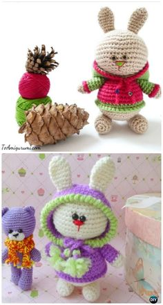 Crochet Amigurumi Bunny in Hoodie Free Patterns
