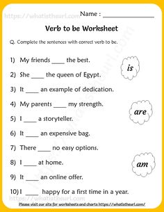 Verb to be Worksheets for Grade 2 - Your Home Teacher English Grammar For Kids, English Phonics, Learning English For Kids, Teaching English Grammar, English Lessons For Kids, English Writing Skills, English Vocabulary Words, Learn English Words, English Worksheets For Kindergarten