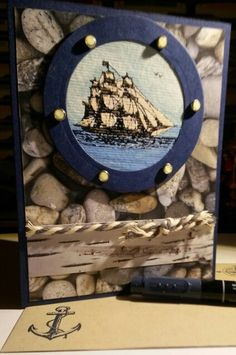 Masculine BD card, using The Open Sea stamps set, Adventure Bound DSPP, Night of Navy CS & ink ... handmade by Q2UNIQUEDESIGNS 2015.05.03 (1)