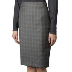 Gray Plaid Pencil Skirt Hardly worn. Great for any wardrobe-has small belt loops around the hips. Length is 24 inches waist is 16 inches. Covington Skirts Pencil