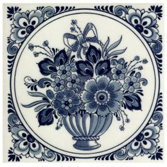 Delft blue tile from the Netherlands