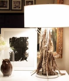 Easy to Make Wood Stick Table Lamp... with Driftwood or any Wood: http://www.completely-coastal.com/2013/09/make-driftwood-table-lamp.html
