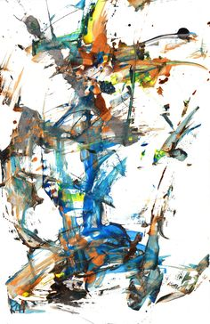 Modern Abstract Paintings -- Crazy Chaos Times 2 -- Contemporary Expressionism Art