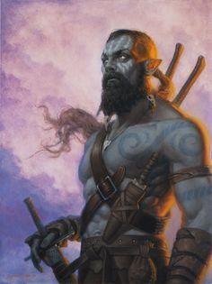 Trogan Thanar'Bor, Meio Orc Druida membro dos Herossarins e professor de Casimyr em Transmutação Druidica.