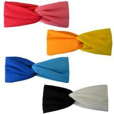 These wide stretchy turban head wraps are the perfect head band to keep your hair back and off your neck.