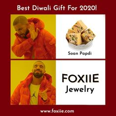 "This Diwali ✨ Say Bye-Bye to "" SOAN PAPDI "" Gift Foxiie Jewellery to Your Loved One❤️ #memes #memesdaily #MemeMonday #memes2020 #memepage #jewelery #jewellerymeme #soanpapdi #soanpapdimeme #memeoftheday #diwalimeme #gift #giftideas #giftideasfordiwali #diwaligift #dewaligifts #foxiietrends #foxiie Best Diwali Gift, Diwali Gifts, Fashion Jewellery Online Shopping, Jewellery Sale, Oxidised Jewellery, Imitation Jewelry, Stylish Jewelry, Bye Bye, Online Shopping Stores"