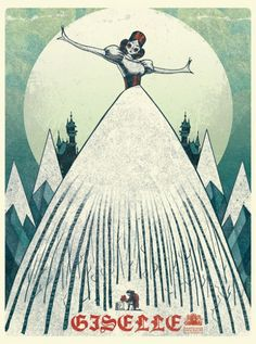Birmingham Royal Ballet Giselle poster by Donough O'Malley. Gorgeous stuff.