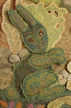 Fantastic embroidered rabbit by Salley Mavor.  visit her web site for all kinds of inspiration.