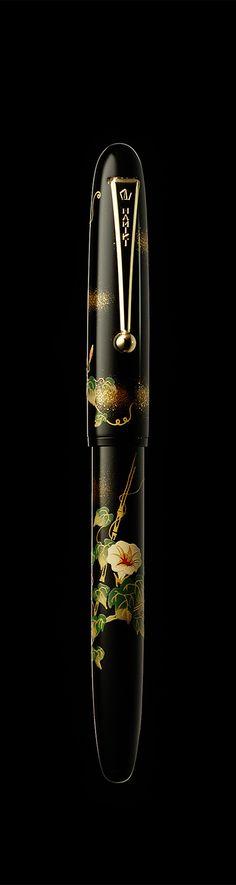Namiki Yukari maki-e fountain pen - Morning Glory