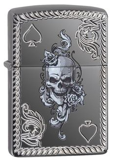 This High Polish Black Ice Lighter features a deep carved boarder surrounding an intricate skull design. Custom Lighters, Cool Lighters, Zippo Armor, Zippo Collection, Rockabilly Cars, Lighter Fluid, Light My Fire, Zippo Lighter, Skull Design