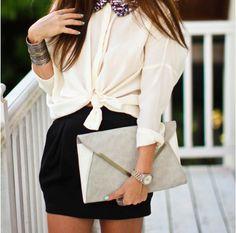 mini black skirt