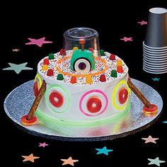 Glow in the Dark UFO Cake