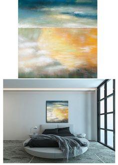 'Sandy Bay' - Available at United Artworks https://www.unitedartworks.net/artwork/paintings/abstract/sandy-bay-wall-art