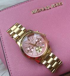 Michael Kors Uhr Gold Rosa Pink MK6161